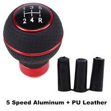 5-level Ball Manual Shifter Car Gear Knob Stick Shift Lever Red+Black Universal