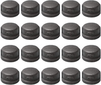 """3/4"""" Pipe Fitting Cap  Home TZH 20 Pack 3/4"""" Black Malleable Iron Cast Pipe Caps"""