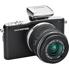 Olympus PEN e-pm1 Nero + 14-42mm + ed 40-150 MM + FLASH - 12mp-come nuovo
