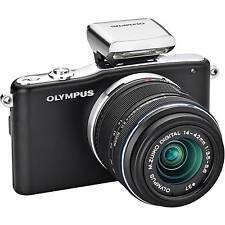 Olympus PEN e-pm1 Nero + 14-42mm + ed 40-150 MM + FLASH - 12mp-come nuovo