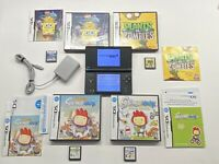 Nintendo Black DSi w/ 4 Games & Charger Plants Vs Zombies, Spongebob (read descr