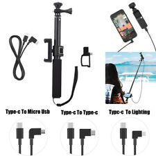 For DJI OSMO POCKET Phone Clip + Selfie Stick + Cable + Bracke Accessories Kit.