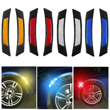 2pcs Car Door Edge Guard Reflective Sticker Protector Tape Rubber Safety Warning