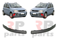 Pour Fiat Panda 2003 - 2012 Neuf Avant Pare-Choc Moulure Bordure Paire Noir Set