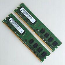 Micron 4GB 2x2GB PC2-6400U DDR2 800 MHZ 2Rx8 RAM Low-Density memory DIMM Desktop