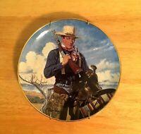 Collector's Plate John Wayne Spirit of the West Franklin Mint Heirloom