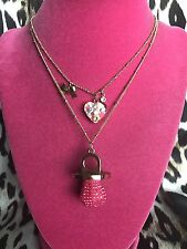 Betsey Johnson Candyland Candy Ring Pop SWEET THINGS FOREVER Heart Necklace RARE