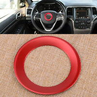 Aluminum Steering Wheel Center Cover Trim-Red for Jeep Grand Cherokee