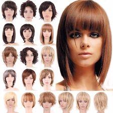 Pour Femmes Noir Blonde Brune Court Perruque De Cheveux Naturel Bouclé