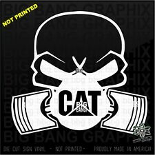CAT Vinyl Decal Diesel Power HEO Heavy Equipment Mechanic...