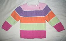 The Children's Place Girl's 12 Months Long Sleeve Multi-Color Striped Sweater
