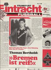 BL 86/87 Eintracht Frankfurt - SV Werder Bremen