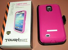 Body Glove ToughSuit case w Holster, Samsung Galaxy S4, Raspberry/Whit
