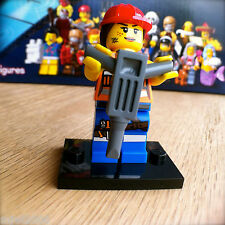 THE LEGO MOVIE Minifigures GAIL THE CONSTRUCTION WORKER #9 SEALED Minifigs 71004