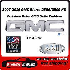 2007-2016 GMC Sierra 3500 HD Polished Aluminum Front Grille Emblem AMI 96501P