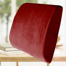 Lumbar Cushion Travel Pillow Memory Foam Car Seat Home Office Chair Back Support