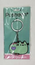 Pusheen The Cat MINT GREEN & PINK PUSHEEN ENAMEL KEYCHAIN NWT