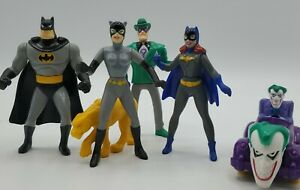 Vintage 1993 Batman Animated Series Joker Catwoman Bat Girl  Mcdonalds Toys lot