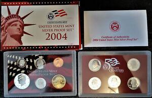 2004 United States Mint Silver Proof Set 11 Coin Set ~ OGP w/Box/COA * FREE Ship