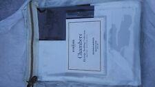 Williams Sonoma Chambers Two-Tone Border 3 Boudoir shams Egyptian cotton Italy