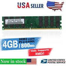 4G  DDR2  Memory RAM PC2-6400 800MHz Desktop Non-ECC DIMM 240 Pin f F1M8