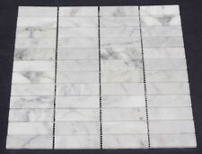 Carrara Marble Stacked Subway Mosaic Floor / Wall Tile Only $110 per m2