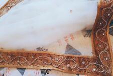 gold white pakistani indian wedding dress size 12 or medium