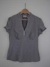 Orsay Bluse Gr. 42 schwarz weiß gestreift kurzarm Tunika Shirt Top T-Shirt