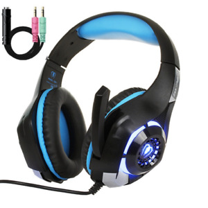 PS4 headset xbox one x low tone LED breathing light mute gaming headphone