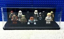 Lego Display Case MEDIUM ONLY Minifigures Set Stackable Black Background
