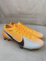 Nike Vapor 13 Elite FG Soccer Cleats Laser-Orange Black AQ4176-801 Men's Size 9