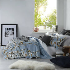 Logan and Mason KENZIE BLUE Floral Queen Size Bed Doona Duvet Quilt Cover Set