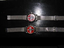 Two Vintage Coca Cola Watches 1999 and 2000 with Stainless Bands