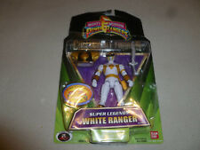 NEW POWER RANGERS  WHITE RANGER SUPER LEGENDS COLLECTIBLE FIGURE BAN DAI 2008 >>