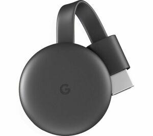 GOOGLE Chromecast - Third Generation Charcoal