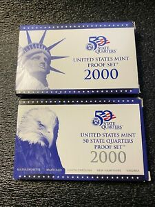 US Mint Y2000 Proof  and 50 States Proof Sets. TOTAL 15 Proof coins