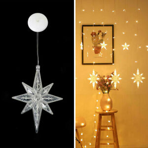 LED Star Fairy String Curtain Window Light Christmas Wedding Party Hanging New