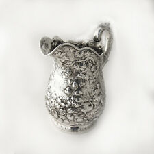 Large Water Pitcher Repousse Coin Silver 11 ozs Kirk 1850-1870
