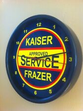 Kaiser Frazer Motors Auto Garage Advertising Man Cave Wall Clock Sign