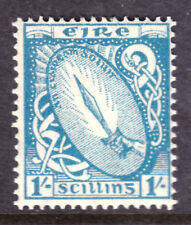 IRELAND #117 1sh BLUE, 1940-42 Wmk.44, F, OG-NH