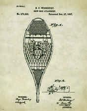 Snow Shoes Patent Poster Art Print 11x14 Vintage Antique Wooden Poles  PAT125
