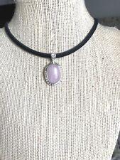 Gemstone Rose Quartz Necklace SMALL Oval Pendant Chakra USA