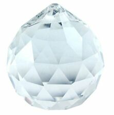 12 pack Lot 20mm Clear Crystal Hanging Faceted Ball Prism Bulk