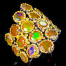 AAAA Recommend Natural Orange Opal 925 Sterling Silver Ring Size 7/R122457