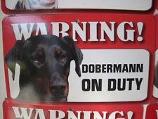Dobermann Glossy Dog Sign on cardboard 20cm x 12cm DELIVERED