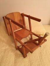 Vintage Portable Folding Baby Hook On High Chair, Booster, Fast Table Seat Wood