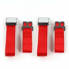 Frazer Nash 1948 - 1967 Airplane 2pt Red Lap Bucket Seat Belt Kit - 2 Belts