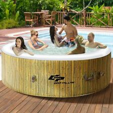 6 Person Portable Inflatable Hot Tub Outdoor Jacuzzi Jets Bubble Massage Spa NEW