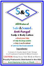 Safe & Sound Natural ANTI-FUNGAL SCALP & BODY LOTION APPLE CIDER VINEGAR & ALOE
