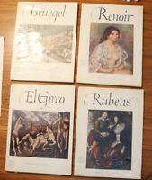 Vintage Abrams ART BOOK Lot Of 4 Beautiful Full Color Prints Rubens Renoir